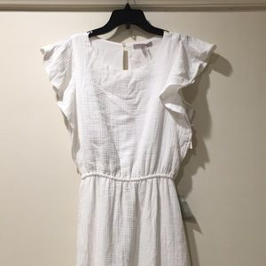 Chelsea 28 white ruffle maxi dress NWT